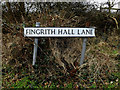 TL6003 : Fingrith Hall Lane sign by Adrian Cable