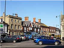 TF0920 : Traffic problems in the town centre at Bourne, Lincolnshire by Rex Needle