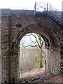 NY6758 : Steps at west end of Lambley Viaduct by Andrew Curtis
