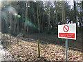 TL9095 : Military firing range warning sign by Adrian S Pye