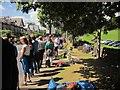 SE2957 : Tour de France spectators, Ripon Road by Derek Harper