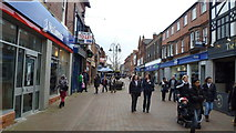SJ8481 : Pedestrianised street in Wilmslow, Cheshire by Jeremy Bolwell