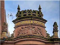SJ8398 : Mynshull's House, Upstand and Finials by David Dixon
