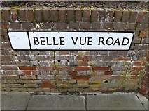 TM1745 : Belle Vue Road sign by Adrian Cable