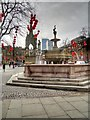 SJ8398 : Jubilee Fountain, Albert Square by David Dixon