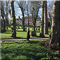TL8564 : Bury St Edmunds: a February morning in St Mary's Churchyard by John Sutton