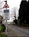SN6212 : Stop when lights show ahead, Station Road, Ammanford by Jaggery