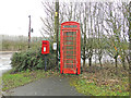 TM2492 : Decrepit telephone box with a working phone at Silver Green by Adrian S Pye