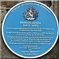 SJ9995 : Blue Plaque to Francis Lovell by Gerald England