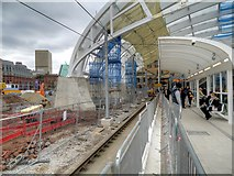 SJ8499 : Victoria Station Refurbishment (February 2015) by David Dixon