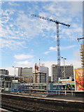 TQ3265 : Construction by Croydon station (2) by Stephen Craven