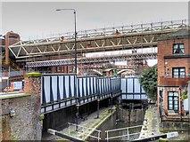 SJ8397 : Rochdale Canal, Exhibition Footbridge by David Dixon