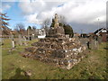 ST4988 : Remains of churchyard cross, St Mary's Church, Portskewett by John Lord