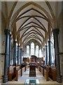 TQ3181 : Temple Church - Chancel, central aisle by Rob Farrow