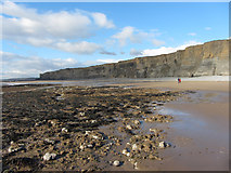 SS9168 : Beach near Nash Point by Gareth James