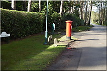SU9667 : Post box on West Drive by Shazz