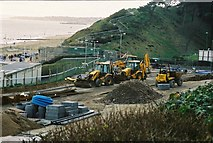 SZ1191 : Bournemouth: construction begins on Honeycombe Beach by Jonathan Hutchins