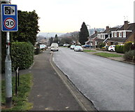 ST3091 : Speed camera sign, Rowan Way, Malpas, Newport by Jaggery