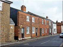 TL8422 : Red brick row, Stoneham Street, Coggeshall by Robin Webster