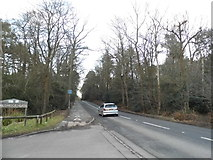 SU8363 : Sandhurst Road at the entrance to Wildmoor Heath by David Howard