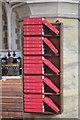 TQ7718 : Hymn books, St John the Baptist church, Sedlescombe  by Julian P Guffogg