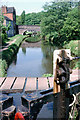 SJ9151 : Pound below lock 8, Caldon Canal, 1978 by Robin Webster
