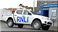 J5980 : RNLI lifeguard pick-up truck, Donaghadee - February 2015(1) by Albert Bridge