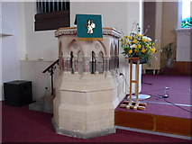 SD5193 :  St Thomas, Kendal: font by Basher Eyre