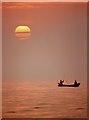 NS2415 : Sea angling at Dunure by Walter Baxter