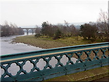 NY7063 : River South Tyne from Haltwhistle Tyne Bridge by Andrew Curtis