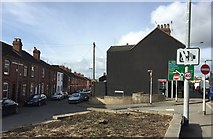 SJ8545 : Newcastle-under-Lyme: junction of Stubbs Gate and London Road by Jonathan Hutchins