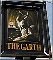 SS8690 : The Garth name sign, Maesteg by Jaggery