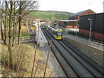 SD9311 : Newhey Metrolink station by Dr Neil Clifton