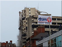 SK5804 : The demolition of the New Walk Centre by Mat Fascione