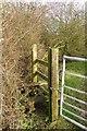 SP7320 : A stile on the Bernwood Jubilee Way by Steve Daniels