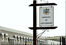 J3772 : Castlereagh boundary sign, Belfast (March 2015) by Albert Bridge