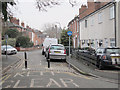 SO8454 : Traffic barrier on Mill Street,Worcester  by Stephen Craven