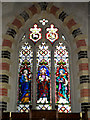 TM1377 : Stained Glass Window of All Saints Church by Adrian Cable