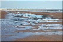 NZ2796 : Patterns on the sand, Druridge Bay by Jim Barton