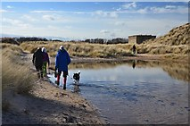 NZ2796 : Pond in the dunes, Druridge Links by Jim Barton