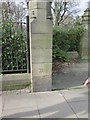 TA1130 : Bench  Mark  at  the  entrance  to  Holderness  House by Martin Dawes