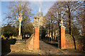 SP8113 : Church gates by Richard Croft