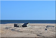 NZ2796 : WWII defences, Druridge Bay by Jim Barton