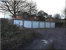 SJ8545 : Hartshill: lock-up garages behind Albany Grove by Jonathan Hutchins