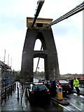 ST5673 : Western support  tower and chains, Clifton Suspension Bridge by Jaggery