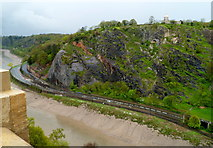 ST5673 : View north from the Clifton Suspension Bridge by Jaggery