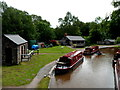 SO1419 : Canal narrowboats, Cwmcrawnon near Llangynidr by Jaggery