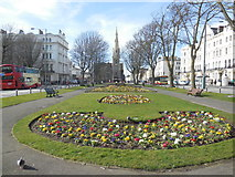 TQ2904 : Spring Flowers. Palmeira Square by Paul Gillett