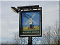 TM2564 : Old Mill House public house, Saxtead, pub sign by Adrian S Pye