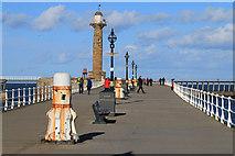 NZ8911 : West pier, Whitby by Pauline E